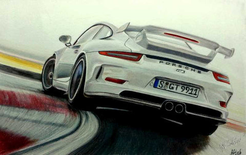 Wall Art, Forsche Gt3 Artwork | Artist: Aftab Mohamed, - PosterGully