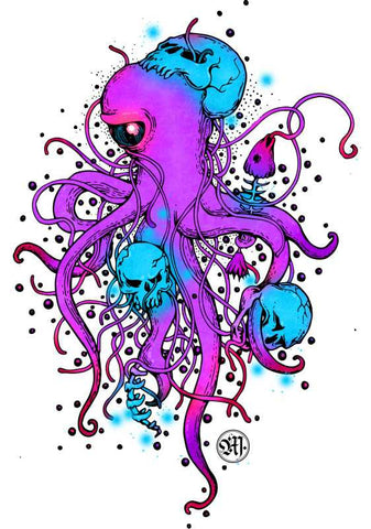 Wall Art, Octopus Abstract Artwork  | Artist: Monisha Miriam, - PosterGully