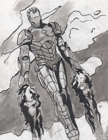 Brand New Designs, Iron Man Painting Artwork | Artist: Asees Kaur, - PosterGully