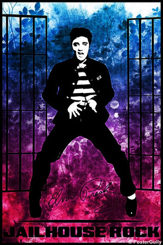 Wall Art, Elvis Presley Jailhouse Rock Artwork, - PosterGully