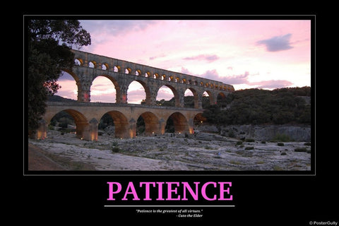 Wall Art, Patience | Motivational, - PosterGully