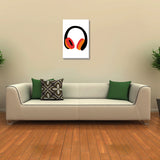 Canvas Art Prints, Headphones White Stretched Canvas Print, - PosterGully - 3