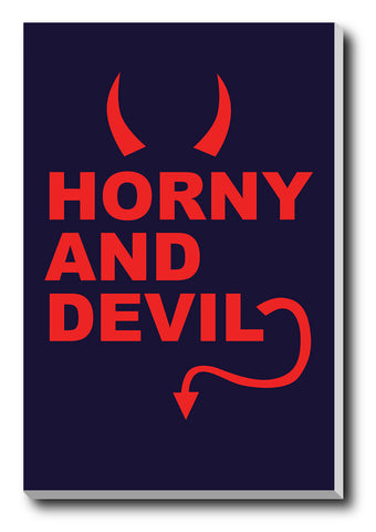 Canvas Art Prints, Horny And Devil Stretched Canvas Print, - PosterGully - 1