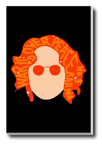 Canvas Art Prints, Lennon Orange Stretched Canvas Print, - PosterGully - 1