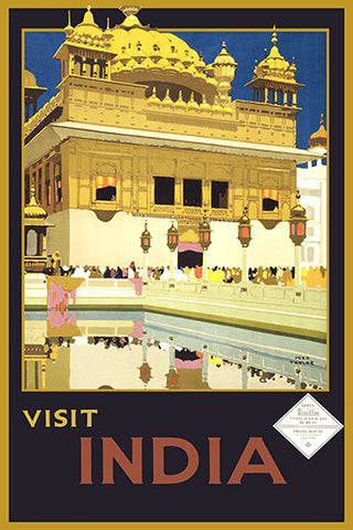 Wall Art, Visit India - Golden Temple, - PosterGully