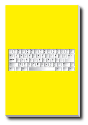 Canvas Art Prints, Keyboard Minimal Stretched Canvas Print, - PosterGully - 1