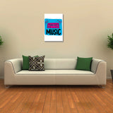Canvas Art Prints, Music Boombox Stretched Canvas Print, - PosterGully - 3