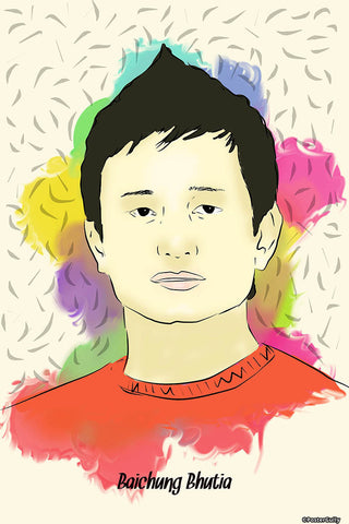 Wall Art, Bhaichung Bhutia, - PosterGully - 1