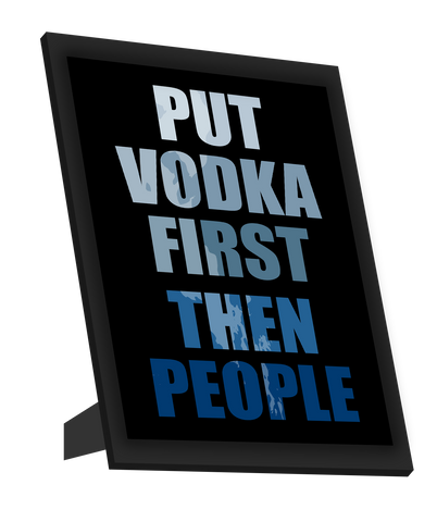 Framed Art, Vodka First Framed Art, - PosterGully
