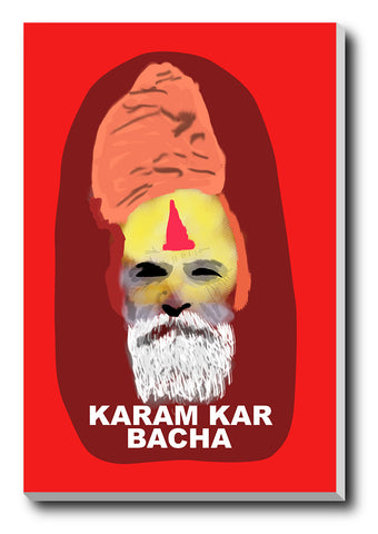 Canvas Art Prints, Karam Kar Bachha Stretched Canvas Print, - PosterGully - 1
