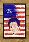 Brand New Designs, Born To Run Bruce Sprinsteen Artwork, - PosterGully - 2