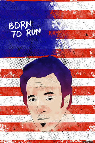 Brand New Designs, Born To Run Bruce Sprinsteen Artwork, - PosterGully - 1