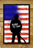 Brand New Designs, Born To Run Bruce Sprinsteen Back, - PosterGully - 2