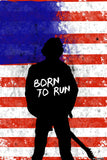 Brand New Designs, Born To Run Bruce Sprinsteen Back, - PosterGully - 1