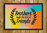 Wall Art, Brothers Best Friends, - PosterGully - 2