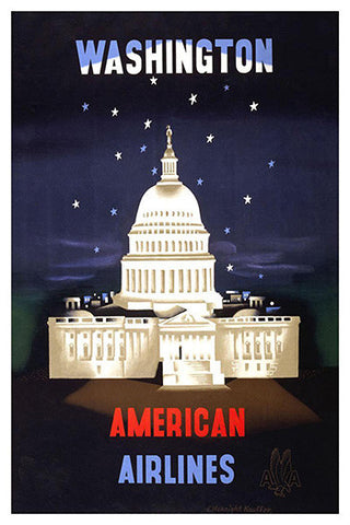Wall Art, Washington American Airlies, - PosterGully
