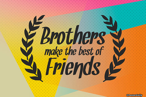 Wall Art, Brothers Best Friends, - PosterGully - 1