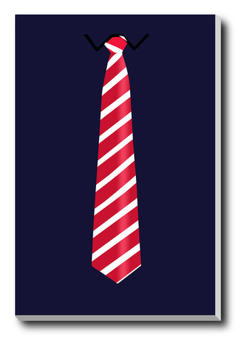 Canvas Art Prints, Minimal Red Tie Stretched Canvas Print, - PosterGully - 1