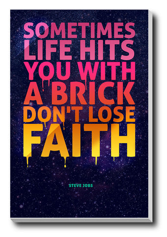 Canvas Art Prints, Don't Lose Faith Stretched Canvas Print, - PosterGully - 1