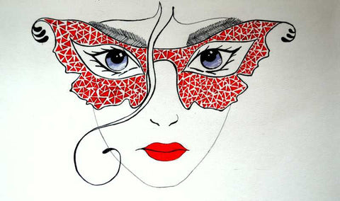 Wall Art, Lady abstract Specks Artwork | Artist: Gauri Chitre, - PosterGully