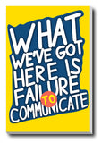 Canvas Art Prints, Failure To Communicate | Cool Hand Luke Stretched Canvas Print, - PosterGully - 1