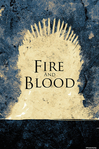 Wall Art, Game Of Thrones Fire And Blood, - PosterGully - 1
