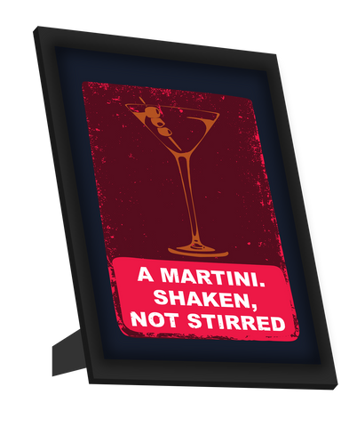 Framed Art, Martini James Bond Framed Art, - PosterGully