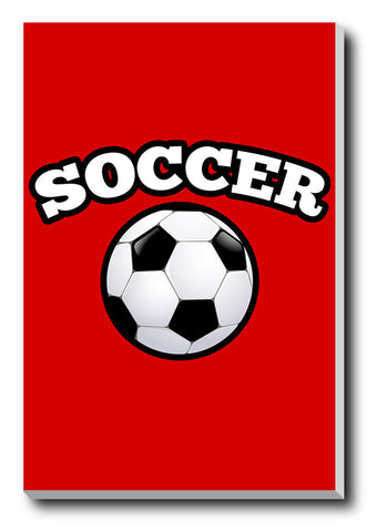 Canvas Art Prints, Soccer Stretched Canvas Print, - PosterGully - 1
