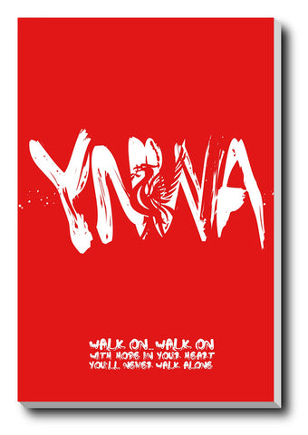 Canvas Art Prints, Liverpool Minimal Stretched Canvas Print, - PosterGully - 1