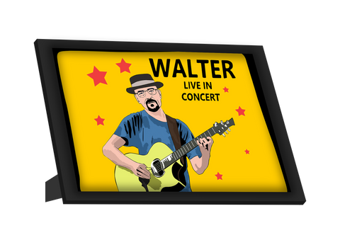 Framed Art, Walter Live In Concert  Breaking Bad Framed Art, - PosterGully
