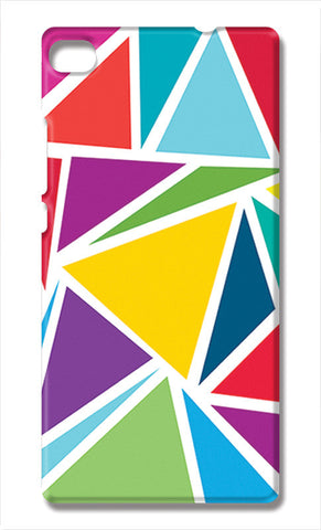 Abstract Colorful Triangles | Huawei P8 Cases