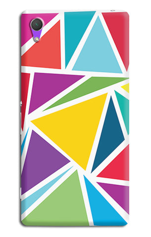 Abstract Colorful Triangles | Sony Xperia Z2 (L39t, L50w, D6503) Cases
