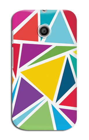 Abstract Colorful Triangles | Moto E XT1021 Cases