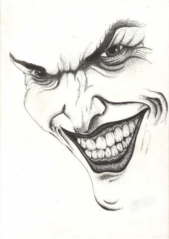 Wall Art, Batman Joker Sketche 1 Artwork | Artist: Shyam Zawar, - PosterGully