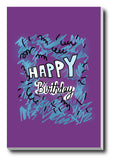 Wall Art, Happy Birthday Purple, - PosterGully - 3