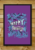 Wall Art, Happy Birthday Purple, - PosterGully - 2