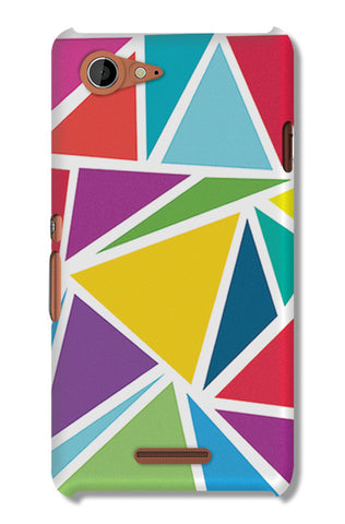 Abstract Colorful Triangles | Sony Xperia E3 Cases