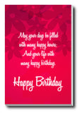Wall Art, Happy Birthday Red, - PosterGully - 3