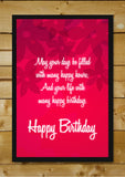 Wall Art, Happy Birthday Red, - PosterGully - 2