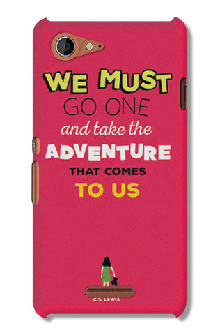 Adventures Narnia Typography | Sony Xperia E3 Cases