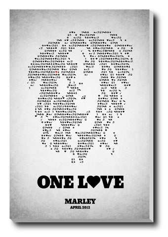 Canvas Art Prints, Bob Marley One Love Stretched Canvas Print, - PosterGully - 1