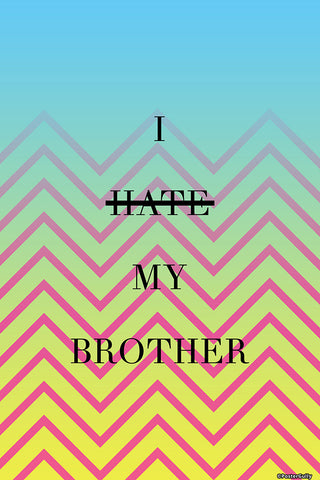 Wall Art, Hate Brother Humour, - PosterGully - 1
