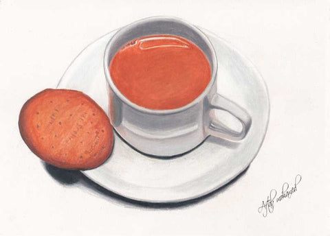 Wall Art, Tea And Biscuit Artwork | Artist: Aftab Mohamed, - PosterGully