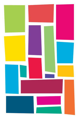 Abstact Colorful Rectangles |  PosterGully Specials