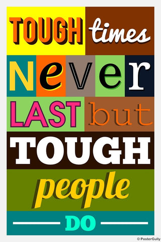 Wall Art, Tough Times, - PosterGully