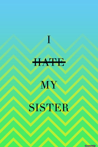 Wall Art, Hate Sister Humour, - PosterGully - 1