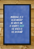 Wall Art, Marriage Humour, - PosterGully - 2
