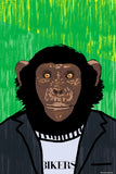 Brand New Designs, Monkey Biker Humour, - PosterGully - 1