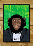 Brand New Designs, Monkey Biker Humour, - PosterGully - 2