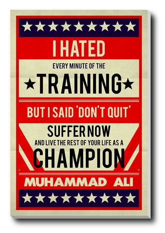 Canvas Art Prints, Muhammad Ali Train Stretched Canvas Print, - PosterGully - 1
